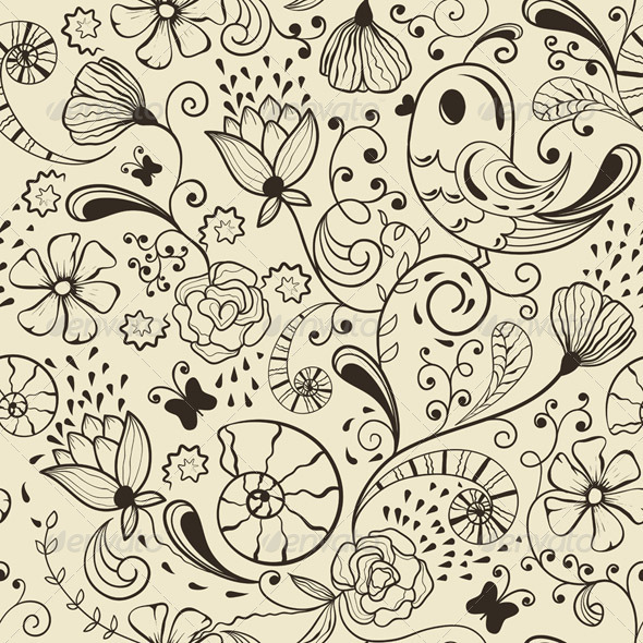 GraphicRiver Vector Seamless Spring Pattern 3863238