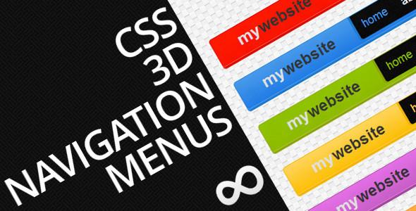 CodeCanyon CSS 3D Navigation Menus 3848440