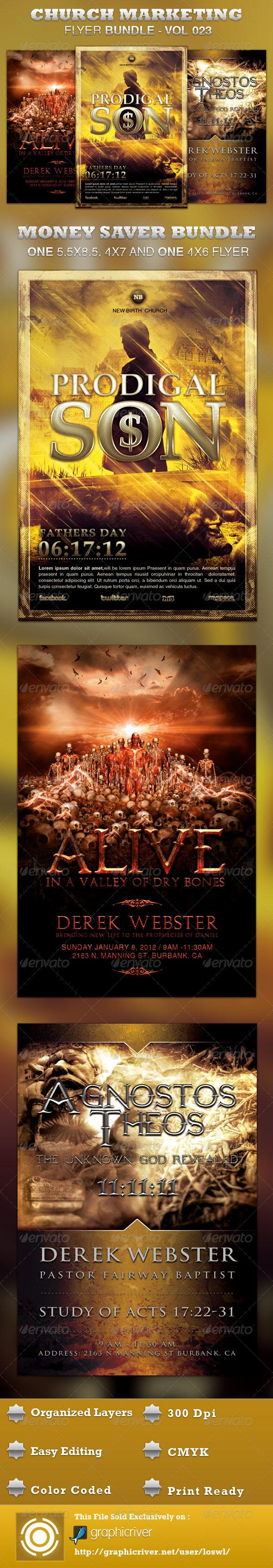 GraphicRiver Church Marketing Flyer Bundle-Vol 023 3863341