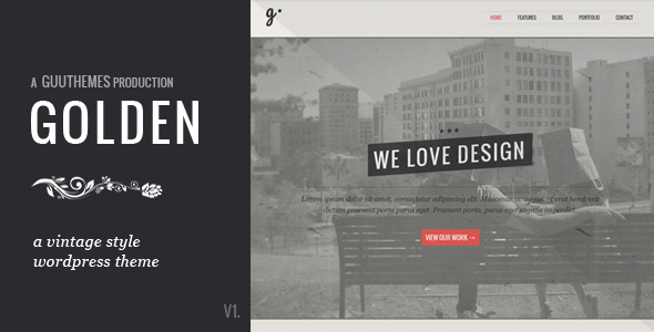 GOLDEN - Responsive Vintage WordPress Theme - Creative WordPress