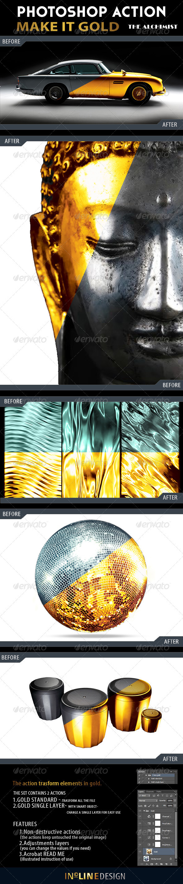 GraphicRiver Make it Gold Action 3772033