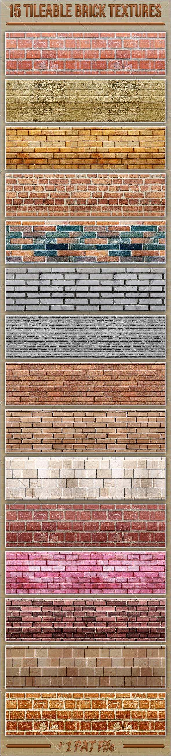 GraphicRiver 15 Tileable Brick Textures 3863960