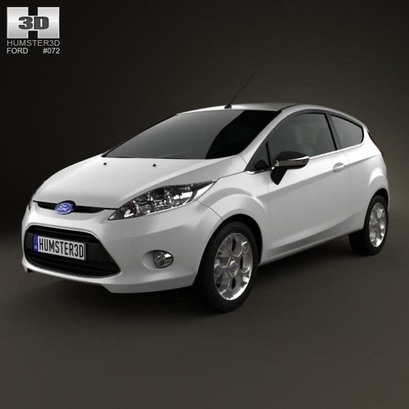 3DOcean Ford Fiesta hatchback 3-door EU 2012 3864062