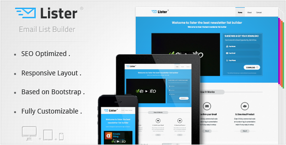 ThemeForest Lister Premium Landing Page 3841785