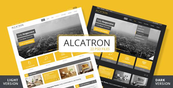 ThemeForest Alcatron Light & Dark Premium PSD Theme 3848923