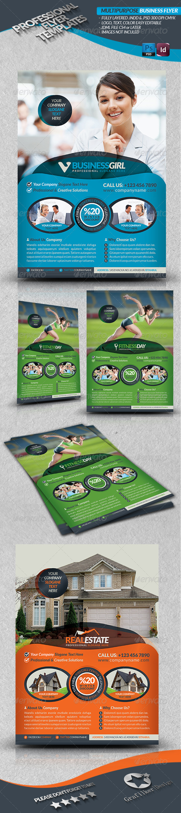GraphicRiver Multipurpose Business Template Flyer 3782498
