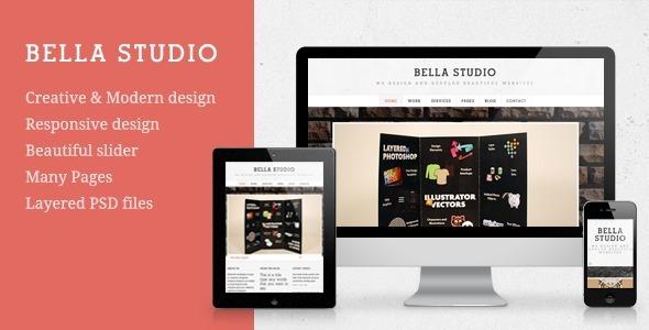 ThemeForest Bella Studio Responsive Portfolio and Business 3843013