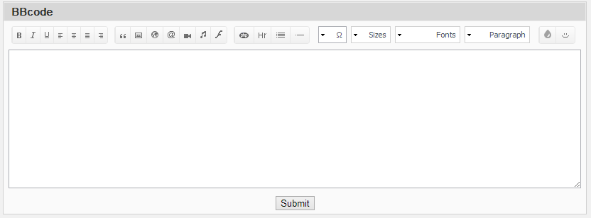 Mega BBCODE Editor v 1.0