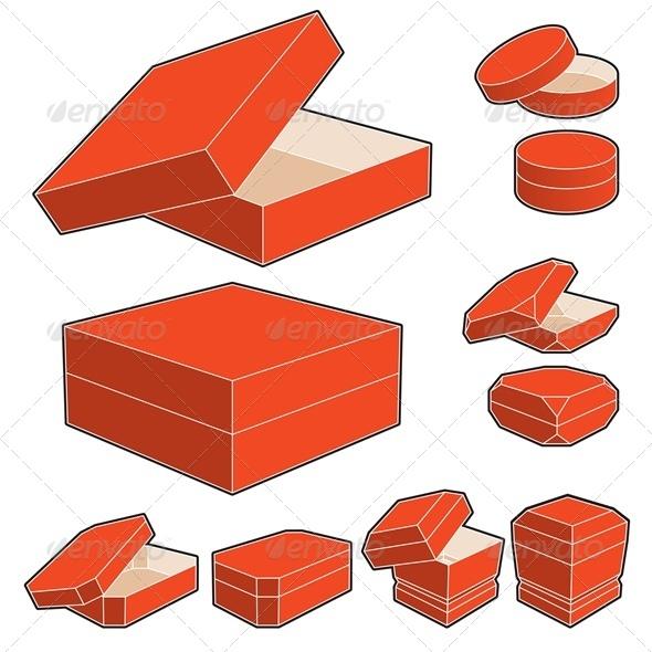 GraphicRiver Boxes Set 3865742