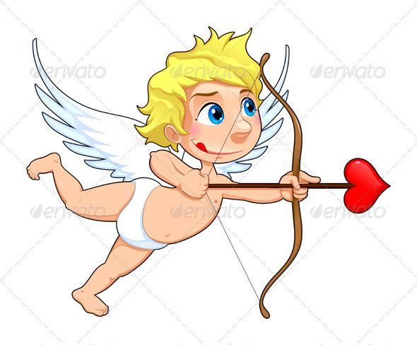how to draw cupid cartoon