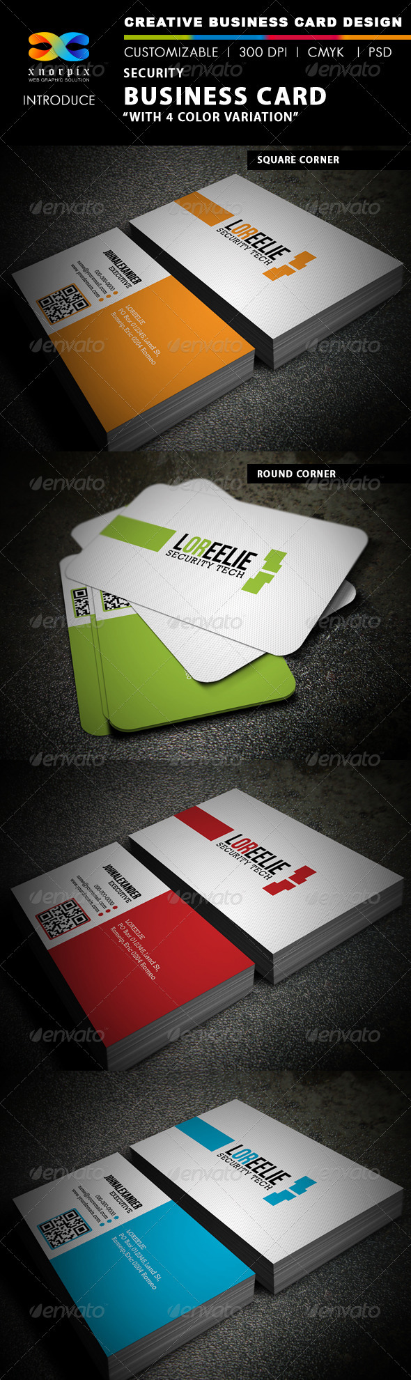 Security Business Card - Corporate Business Cards