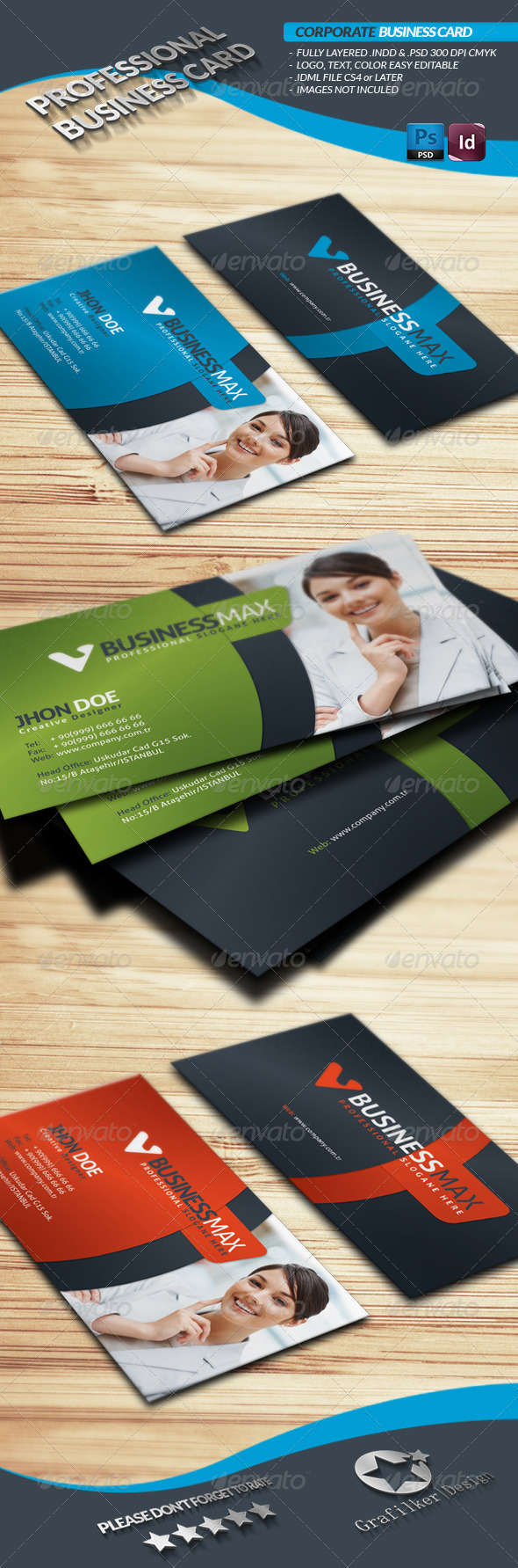 GraphicRiver Corporate Business Card 3866121