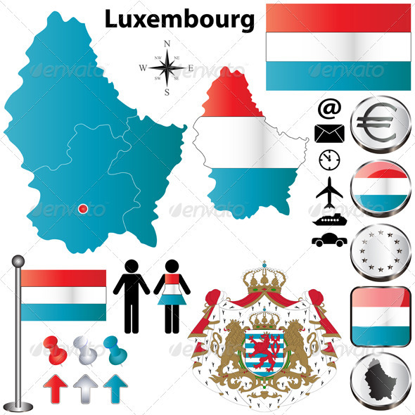 GraphicRiver Luxembourg Map 3866375