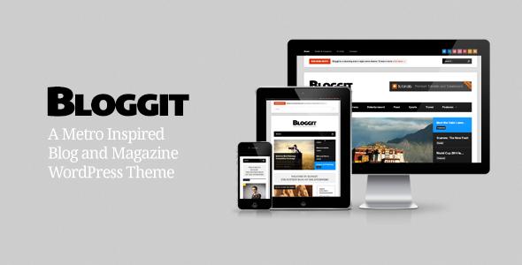 ThemeForest Bloggit Responsive WordPress Blog Magazine News 3866432