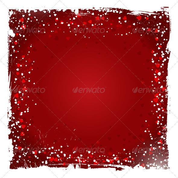 GraphicRiver Grunge Valentine s Day Background 3866545