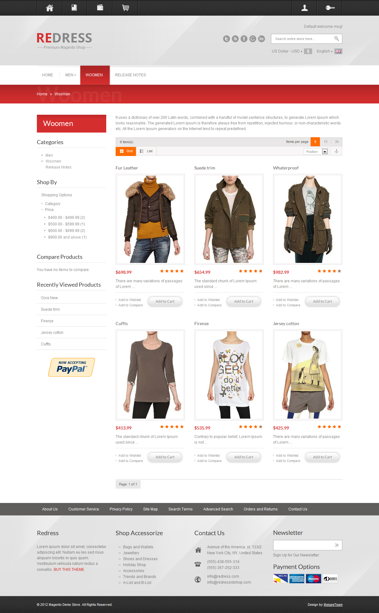 Redress - Responsive Magento Theme
