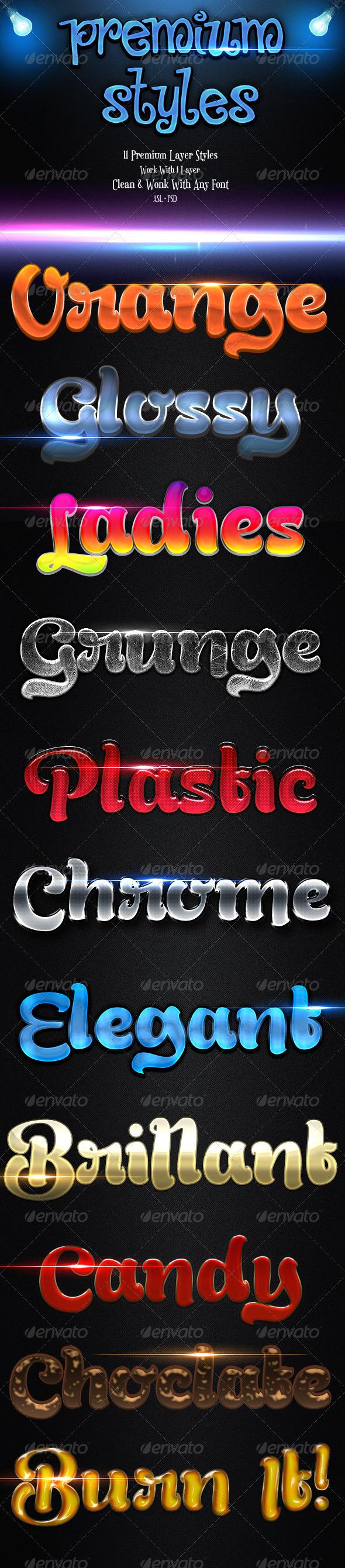 GraphicRiver Premium Styles 3866843