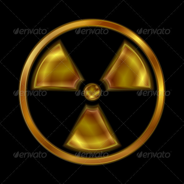 GraphicRiver Nuclear Radiation Vector Symbol 3867150