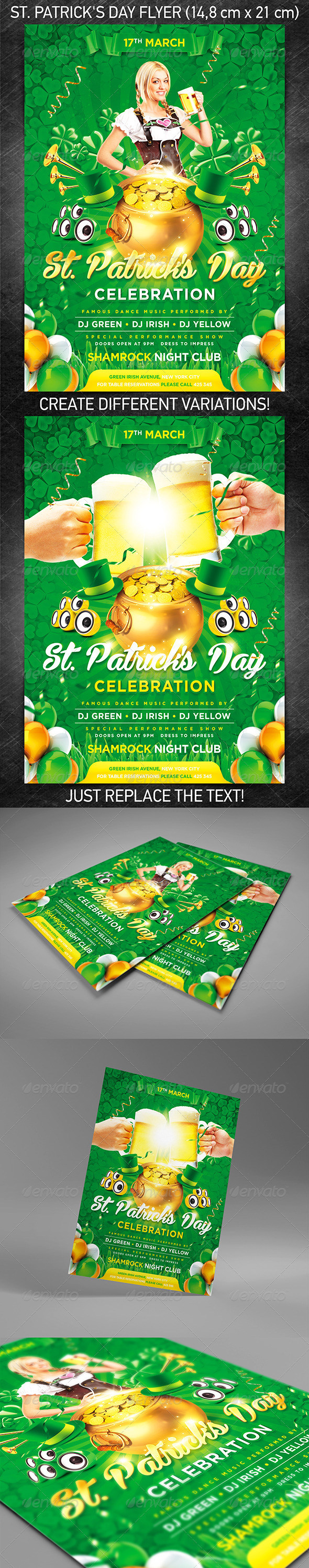 GraphicRiver St Patrick s Day Flyer Vol.2 3867180