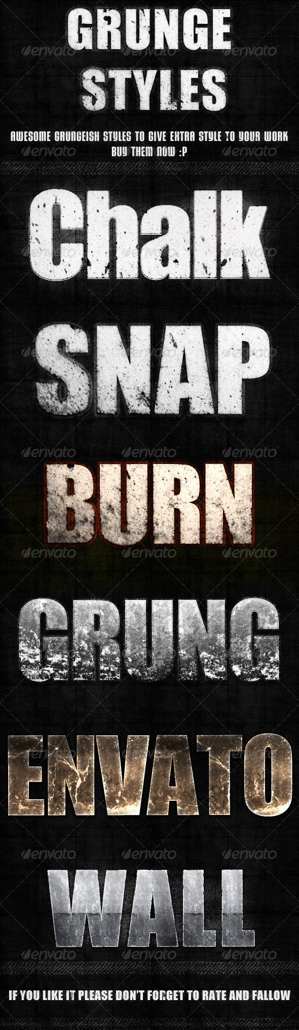 GraphicRiver Grunge Styles 3867255