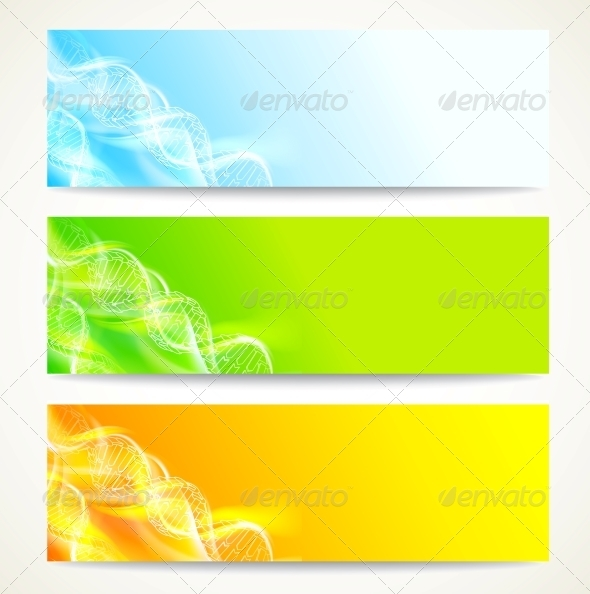 GraphicRiver DNA Banners Set 3867294
