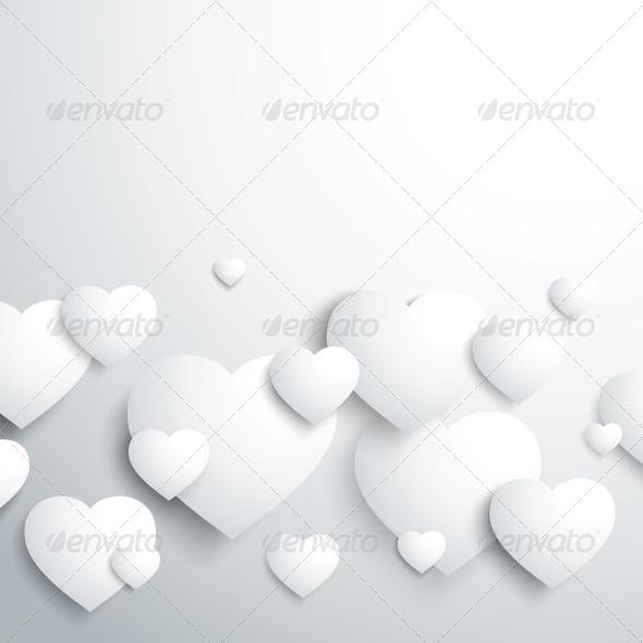 GraphicRiver Stylish White Heart 3867324