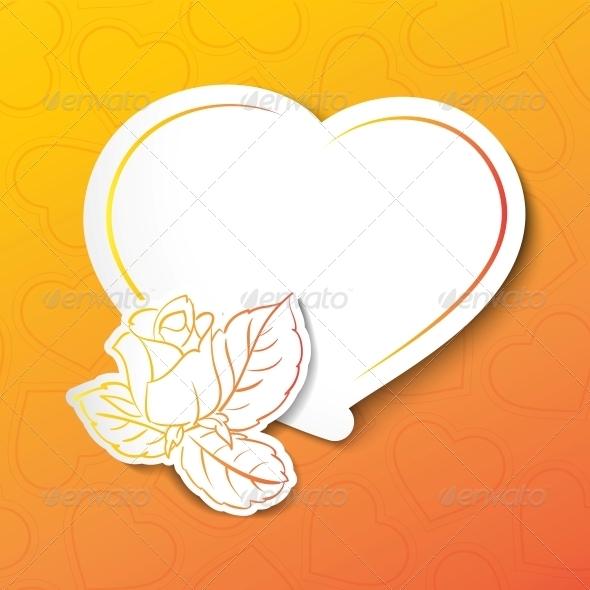 GraphicRiver Stylish White Heart 3867365