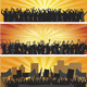Crowd Silhouettes - GraphicRiver Item for Sale