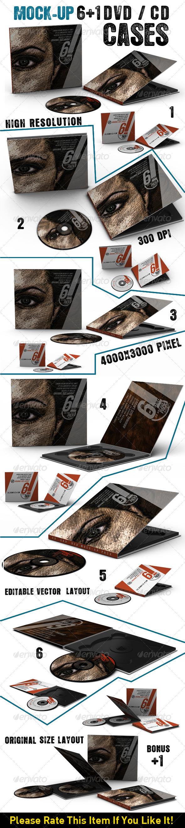 GraphicRiver Dvd Cd Cases Mock Up 3868828