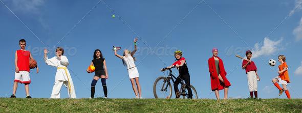 PhotoDune group of sports kids 3869058