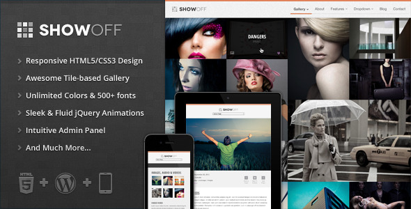 ShowOff - Responsive WordPress Portfolio Theme