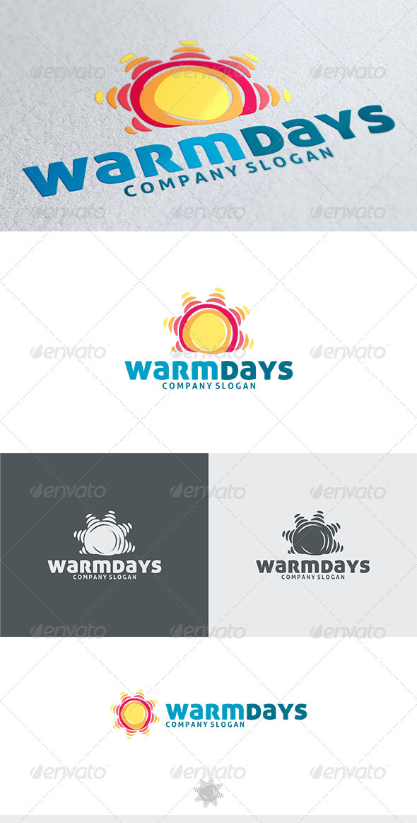 Warm Days Logo - Nature Logo Templates