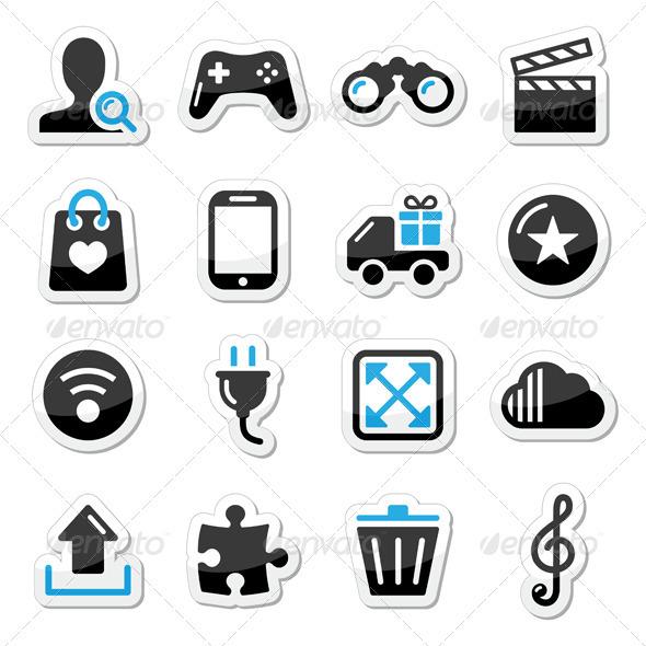 Web Internet Icons Set Vector