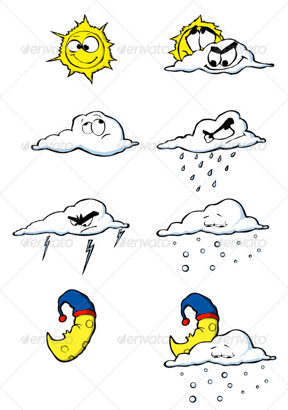 GraphicRiver Weather icons 3722121