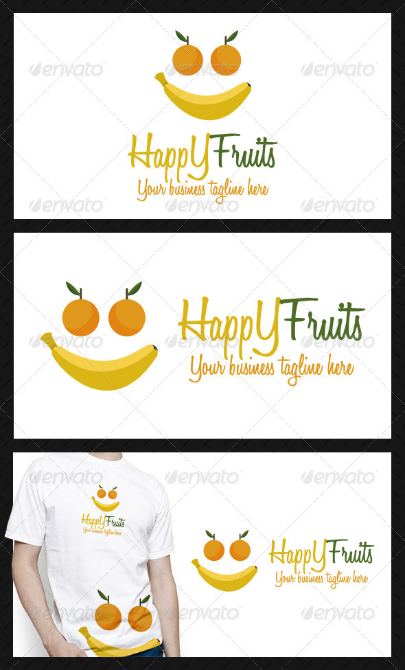 GraphicRiver Happy Fruits Logo Template 3869545
