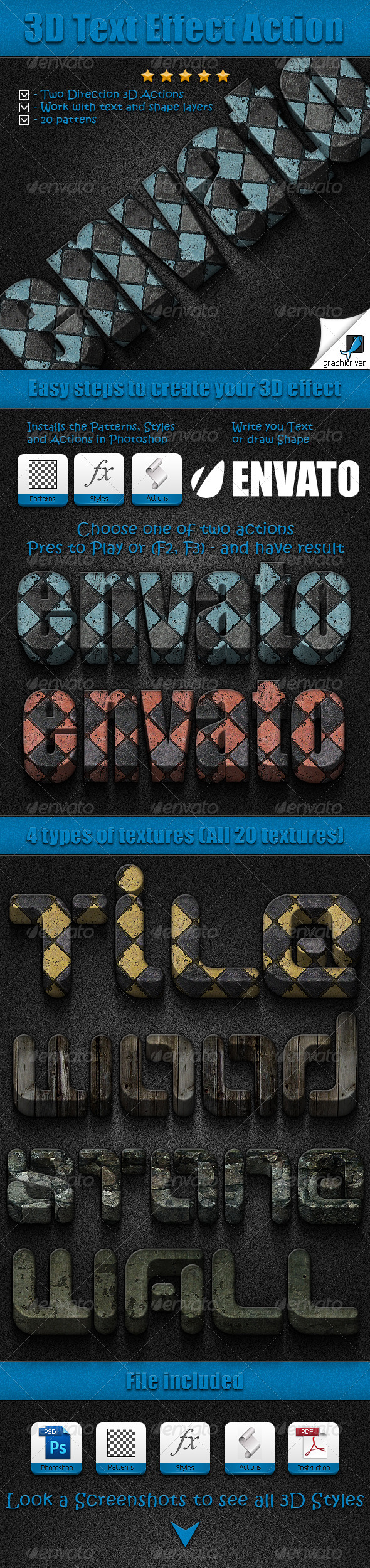GraphicRiver 3D Text Effect Action 3869559