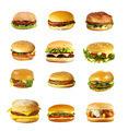 Hamburgers and cheeseburgers