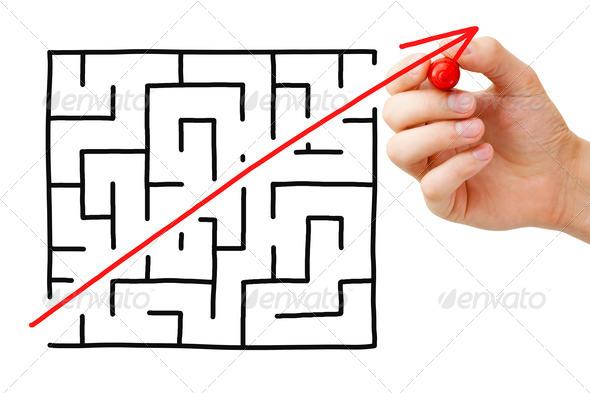 Maze Shortcut - Stock Photo - Images