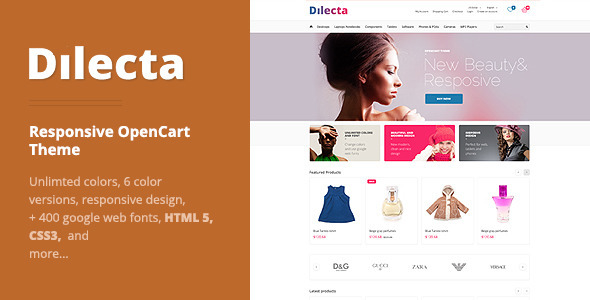ThemeForest Dilecta Responsive OpenCart Theme 3870060