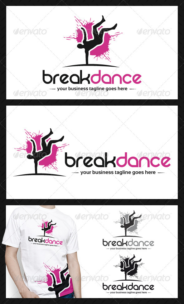 GraphicRiver Breakdance Club Logo Template 3870735