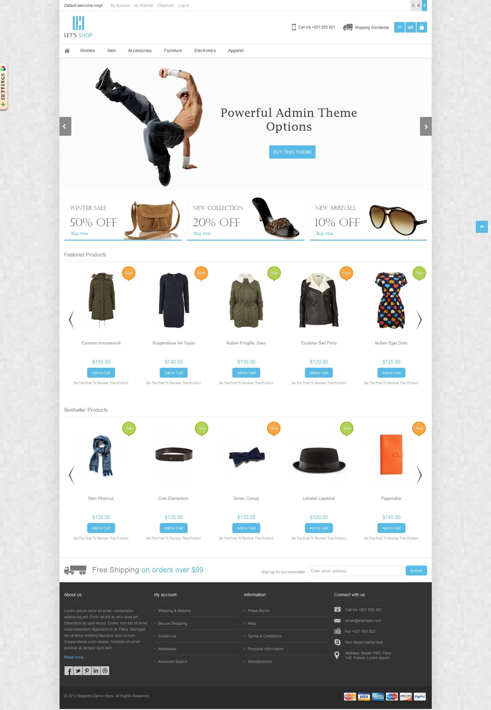 Let's Shop - Responsive Magento Theme