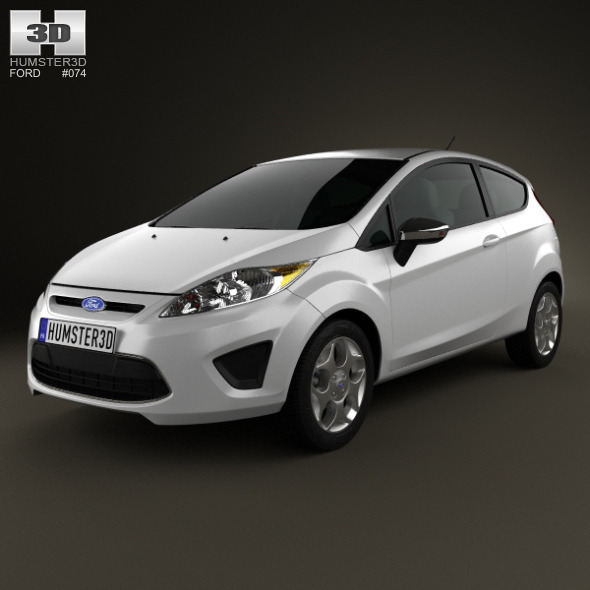 3DOcean Ford Fiesta hatchback 3-door US 2012 3870871