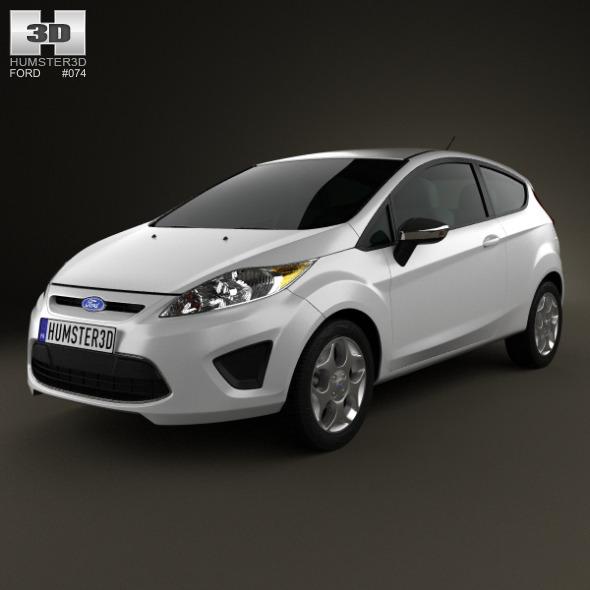 Ford Fiesta hatchback 3-door (US) 2012 - 3DOcean Item for Sale
