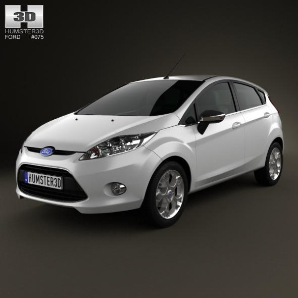 3DOcean Ford Fiesta hatchback 5-door EU 2012 3870878