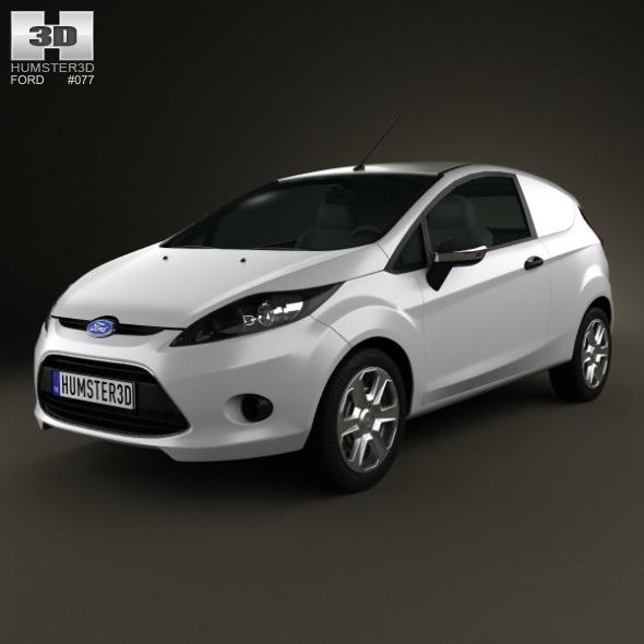 3DOcean Ford Fiesta Van 2012 3870906