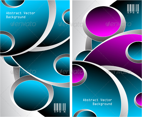 GraphicRiver Two Blue Magenta Grey Abstract Backgrounds 3871174