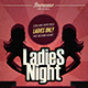 Retro Ladies Night Flyer Template - GraphicRiver Item for Sale