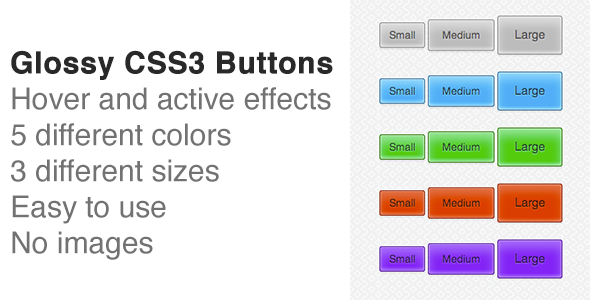 CodeCanyon Glossy CSS3 Buttons 3869600