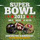 Super Bowl - Football Flyer - GraphicRiver Item for Sale