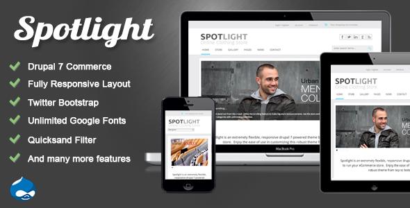 Spotlight - Responsive Drupal 7 eCommerce Theme